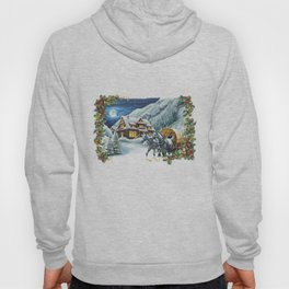 Christmas Winter Scene Hoody