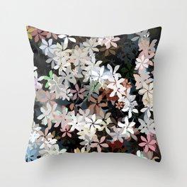 Country Breeze Flower Garden Throw Pillow