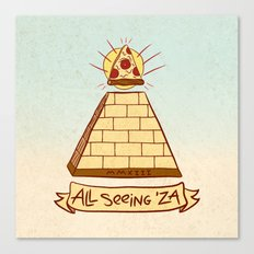 THE ALL SEEING 'ZA Canvas Print