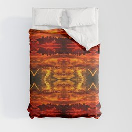 Abstract Pattern Hell Evil Apocalyptic Artwork Comforters
