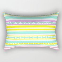 Bright striped pattern Rectangular Pillow