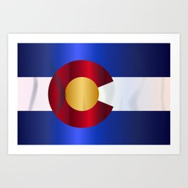 State Flag Of Colorado Art Print