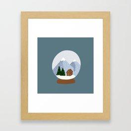 A Snow Covered World Framed Art Print