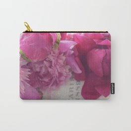 Romantic Paris Pink Peonies Prints and Home Decor Carry-All Pouch