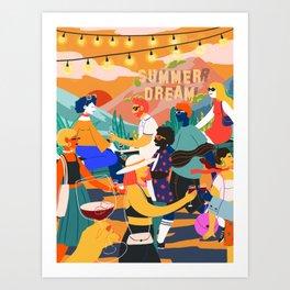 Summer Party Poster Art Print