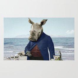 Mr. Rhino's Day at the Beach Rug