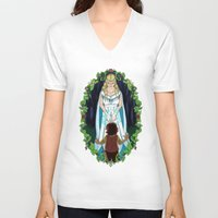 aragorn V-neck T-shirts featuring The Light of Eärendil by Theresa Lammon