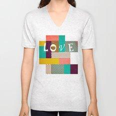 Geometric Love Unisex V-Neck