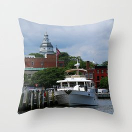 Annapolis Harbor Throw Pillow