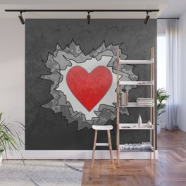 Break through to your heart Wall Mural