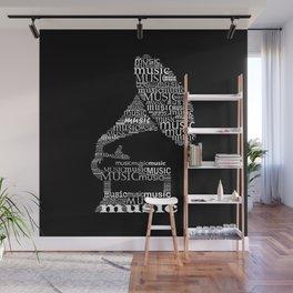Invert gramophone Wall Mural
