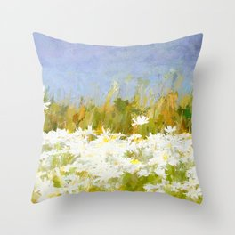 At the roadside Throw Pillow