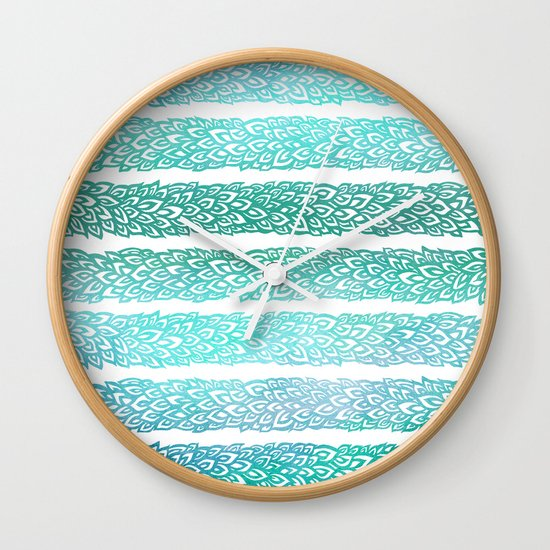 Leaves From Paradise II Wall Clock