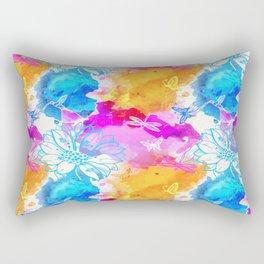 Floral Pattern 11 Rectangular Pillow