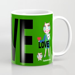 Fashionista cats- mini Coffee Mug