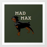 "mad max Art Prints featuring ""Mad Max"" by MarkStantonDesign"