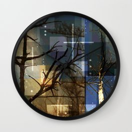 Posterize Dead Trees Wall Clock