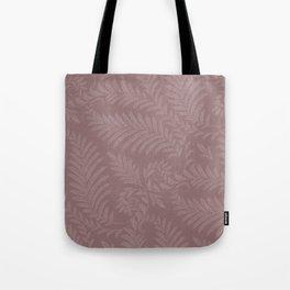 Pantone Red Pear Fancy Leaves Scroll Damask Pattern Tote Bag