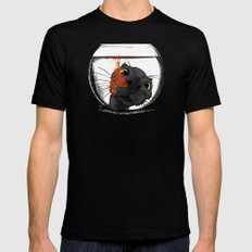 Color Drop Black X-LARGE Mens Fitted Tee