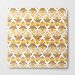 Natural Geometric Forest Metal Print