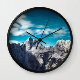 Jalovec mountain in Slovenia Wall Clock