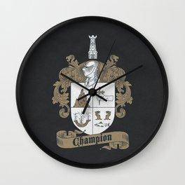 Champion Crest Wall Clock