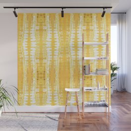 Shibori Itajime Table Yellow Wall Mural