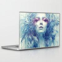 oil Laptop & iPad Skins featuring Oil by Anna Dittmann
