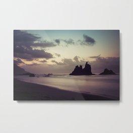Long Exposure sunset in Benijo Beach Metal Print