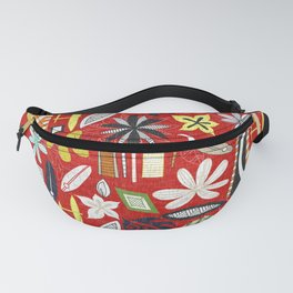 beachy red Fanny Pack