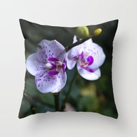 orchid Throw Pillows featuring Orchid by MVision Photography