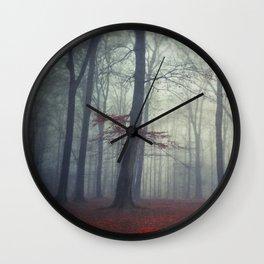 masked woodlands Wall Clock