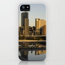 Valencia cityscape in gold iPhone Case