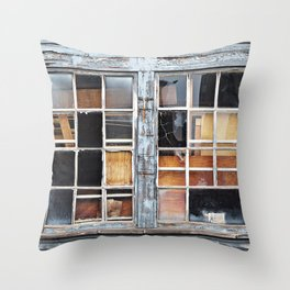 Wood in the Windows Throw Pillow
