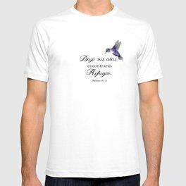 Bajo sus alas encontraras refugio, salmo 91 Spanish bible verse T-shirt