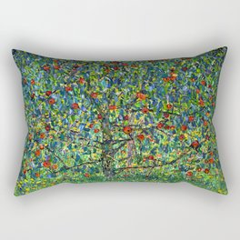 The Apple Tree Gustav Klimt Rectangular Pillow