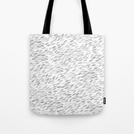 Gray Watercolor Leaf Feathers Pattern Tote Bag