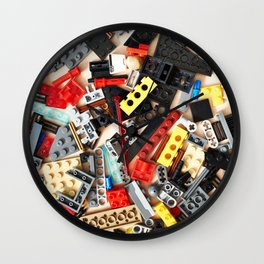 Details of construction toys Wall Clock