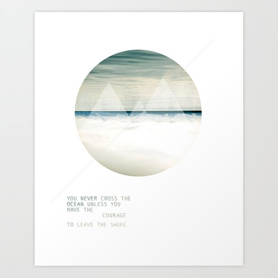 Leave the Shore Art Print