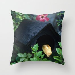 Fresh French Bread Delivery in Tahiti Throw Pillow