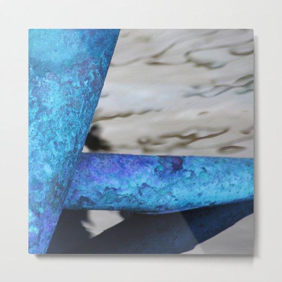 Blue Pipes Metal Print