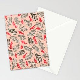 Holiday Mistletoe Pattern Stationery Cards