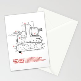 every tank i ever drew in third grade Stationery Cards