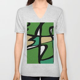 Abstract Painting Design - 8 Unisex V-Neck
