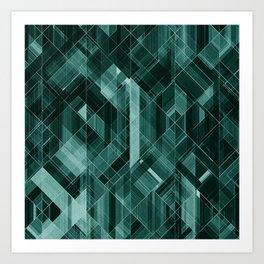 Abstract green pattern Art Print
