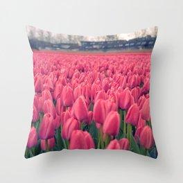 Tulips Field #5 Throw Pillow