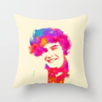 harry Throw Pillows featuring Harry by deff
