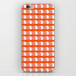 Peachy Pink Stripes Pattern iPhone Skin