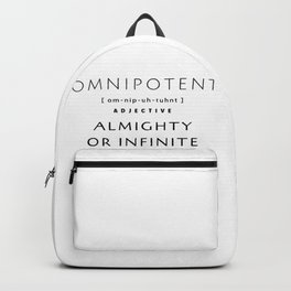 Omnipotent defined by B.Luvid & Co Backpack