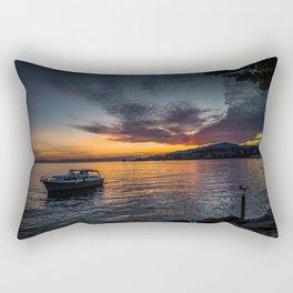 Montreux Lake Sunset Rectangular Pillow